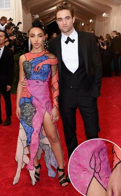 FKA Twigs' Met Gala Dress Had a Penis on It and Everyone Missed It—See the Pic!  Robert Pattinson, FKA TwigsMet Gala 2015, Penis On Dress