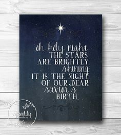 Christmas print holiday wall art holiday decoration by SpoonLily, $5.00