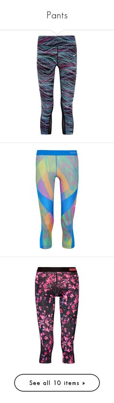 """""""Pants"""" by samtiritilli ❤ liked on Polyvore featuring activewear, activewear pants, leggings, nike, pants, workout, blue, nike activewear, nike activewear pants and nike sportswear"""