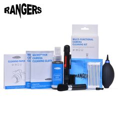 Rangers 8 in 1 Professional Camera Cleaning Kit Pro Set for Canon Nikon Sony SLR DSLR Digital Camera Lens LCD Screens RA101