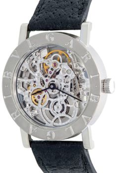 Bvlgari #skeleton Beautiful Full Skeletonized Movement #18kWhiteGold round style case with #exposition back to Full-View of #beautiful Skeletonize movement  #whitegold #18kgold #luxurywatches #luxury #menswatches #mens #menstyle #mensjewelry #timepiece