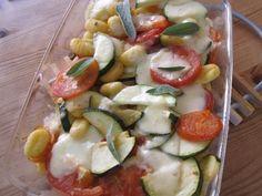 Gnocchi-Auflauf mit Zucchini und Tomate