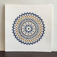 One shape at a time, round and round.. #art #artwork #acuarela #artoftheday #art_we_inspire #beautiful_mandalas #circle #gouache #love_mandalas #mandala #mnartists #mandalaart #mandalamaze #mandaladesign #pattern #simple #watercolor