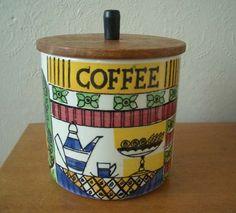 JIE Gantofta Coffee Jar - Made in Sweden - 1960s