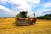 Small harvester stock photography