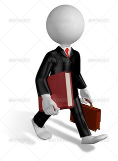 Running Lawyer - Characters 3D Renders