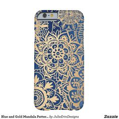 Blue and Gold Mandala Pattern Case