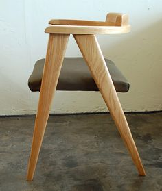 Alan Gould Attributed; White Ash Compass Chair, 1950s.
