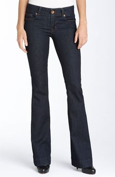 i'm thinking i'll stop the jean cuffing for a while, and just rock heels all the time. these j brand 'love story' bellbottom stretch may have something to do with it.