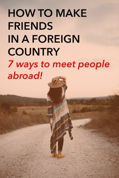 How to meet people overseas