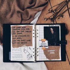 Art journal pages and scrapbook inspiration - ideas for travel journaling, art journaling, and scrapbooking. Art Journal Pages, Album Journal, Bullet Journal Books, Scrapbook Journal, Bullet Journal Ideas Pages, Bullet Journal Inspiration, Poetry Journal, Art Journals, Journal Entries