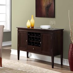 Shop for WYNDENHALL Sterling Sideboard Buffet and Wine Rack. Get free delivery…