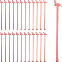 Add some pink to your mixed drinks with these stirrers!  In stock and ready to ship.  <br /> Buy them in a set of 24 or a box of 1000.