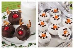 reindeers an pretzles | Reindeer: Choco donut, pretzels, icing, and red M Snowman: ... | Holi ...