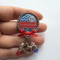 A personal favorite from my Etsy shop https://www.etsy.com/listing/211817158/grandma-to-be-pin-military-patriotic
