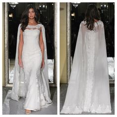 The Oleg Cassini Wedding Dress Collection Fall 2015 #classic #timeless #elegance #elegant A classic silhouette set off by an elegant cape.