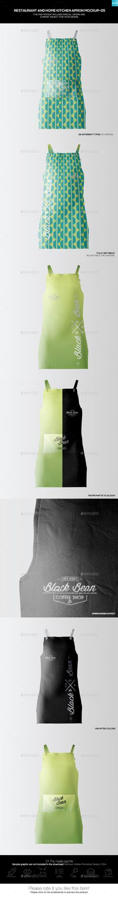 Restaurant and Home Kietchen Apron #Mockup-05 - Miscellaneous Apparel Download here:  https://graphicriver.net/item/restaurant-and-home-kietchen-apron-mockup05/19477263?ref=alena994