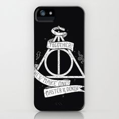 Together they make one Master of Death iPhone Case by Mathijs Vissers - $35.00