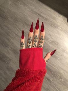 Red Stiletto Nails, Goth Nails, Edgy Nails, Grunge Nails, Stylish Nails, Swag Nails, Acylic Nails, Glamour Nails, Best Acrylic Nails