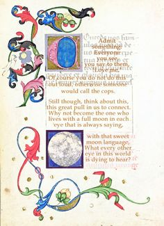 With that sweet moon language Art Print