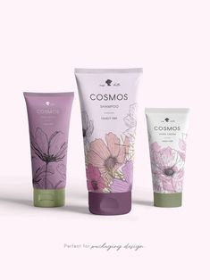 Cosmos Flower clipart, pink watercolor illustration & line art Skincare Packaging, Cosmetic Packaging, Pink Watercolor, Watercolor Illustration, Print Packaging, Packaging Design, Cosmos, Box Design, Brand Design