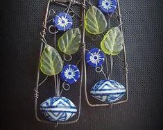 Wire Wrapped Jewelry, Wire Jewelry, Pendant Jewelry, Jewelry Art, Beaded Jewelry, Diy Crafts Jewelry, Handmade Jewelry, Glass Jewelry, Charm Jewelry