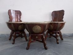 For Sale Nagada Coffee Table with 2 Chair For More Information Please Visit http://usedfurnitures.in/product/nagada-coffee-table-with-chair-1974 or www.usedfurnitures.in or Call: 8826755599
