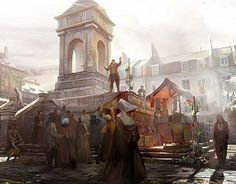 Concept Art done for Assassin's Creed Unity