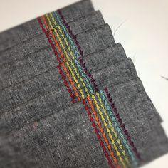 @Terri Osborne McElwee Harlan Sew-Fantastic Fancy stitching. #rainbow #bernina #sewing #berninausa