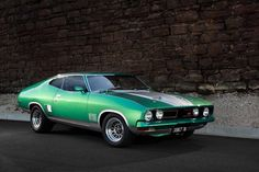 Two door XB GT Cool ride. Australian Muscle Cars, Aussie Muscle Cars, American Muscle Cars, Ford Falcon, Mad Max, Custom Classic Cars, Classic Auto, Classic Wooden Boats, Performance Cars