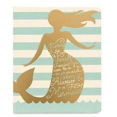 Spartina 449 Always A Mermaid Ruled Notebook ($12) ❤ liked on Polyvore featuring home, home decor, stationery and always a mermaid