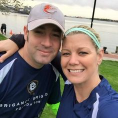 Suzanne and her hubby posing before participating in the #BriganceBrigade 5.7 Run/Walk