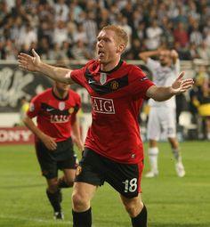 Paul Scholes - Manchester United v Besiktas 15th September 2009