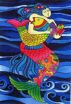 Mermaid with Fish by Laurel Bruch for Danji Designs