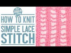 The Simple Lace Stitch :: Knitting Stitch #116
