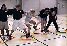 Group move team building exercise