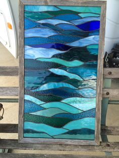 Ocean Dreams l Stained Glass Panel