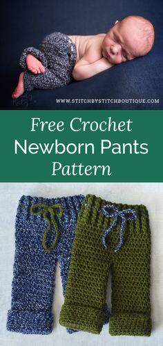 Free Crochet Newborn Pants Pattern — Stitch By Stitch Boutique