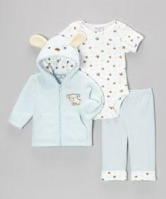 Take a look at this Blue Puppy Jacket Set - Infant by Kyle & Deena on #zulily today!
