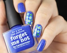31DC2014 - Day 14 - Picture Polish Forget Me Not Flowers