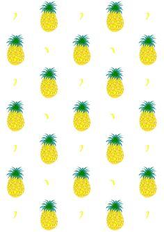 Free digital fruity pineapple scrapbooking paper - ausdruckbares Geschenkpapier - freebie | MeinLilaPark – DIY printables and downloads
