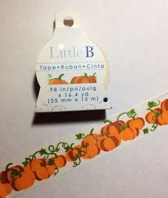Pumpkin Vines Washi by Little B. by DaisyGreyPretties on Etsy