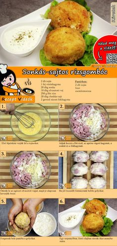 Sonkás-sajtos rízsgombóc recept elkészítése videóval Healthy Food Options, Healthy Recipes, Kaja, Food Humor, Perfect Food, Diy Food, Food Dishes, Food Hacks, Food Inspiration