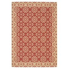 Great prices --Bring exotic style to your dining room ensemble or den seating group with this artfully loomed rug, showcasing a Persian-inspired medallion motif in a rich r...