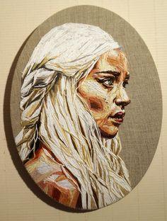 """I'm not a princess, I'm a Khaleesi"" Embroidery/Broderie, 2015, Julie Sarloutte"