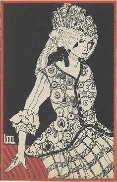 Fashion (Mode) Maria Likarz (Austrian, 1893–1971) Publisher: Published by Wiener Werkstätte Date: ca. 1907/8–14 Medium: Color lithograph