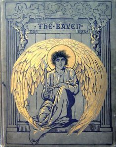 Cover illustration for Edgar Allen Poe's The Raven by Gustave Doré, 1883