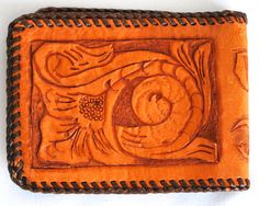 Hand Tooled Handtooled Leather South Western Country Wild West Wallet Souvenir Bohemian Boho Festival Hippie Commune Wanderlust Handmade