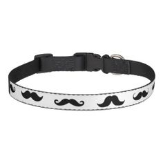Mustaches Dog Collar