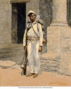 Mexico; Infantryman, field service order, 1888 by Frederic Remington